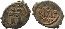Ancient Coins - Byzantine coin of Heraclius 610-641 AD AE Follis - Cyzicus - Nicely detailed