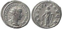 Ancient Coins - Gordian III 238-244AD silver antoninianus - LAETITIA AVG N - 5.27 grams