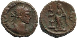 Ancient Coins - Roman Egypt - Diocletian and Eusebeia - Year 5