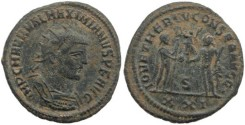Ancient Coins - Maximian antoninianus - IOV ET HERCV CONSER AVGG
