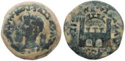 Ancient Coins - Tiberius - Spain - Emerita, City Gate Reverse Ae25