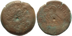 Ancient Coins - Egyptian coin of Ptolemy VI 180-145 BC - Ae30 - Zeus