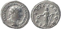Ancient Coins - Gordian III 238-244AD silver antoninianus - LAETITIA AVG N