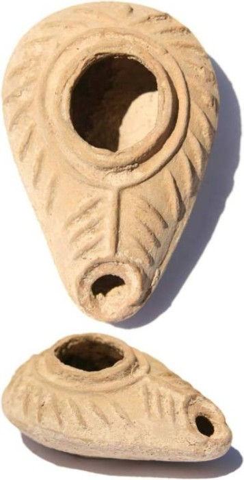 Ancient Coins - Ancient Byzantine Oil Lamp 5th-6th century AD- Center and South of Palestine