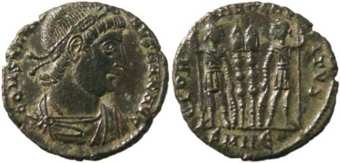 Ancient Coins - Constantine I-  GLORIA EXERCITVS - Heraclea Mint