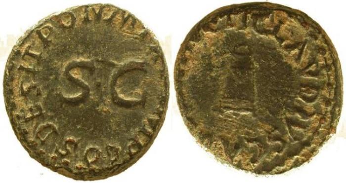 Ancient Coins - Claudius I 41-54AD Ae quadrans