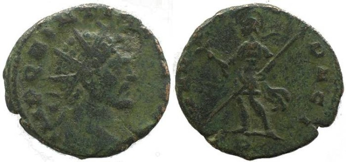 Ancient Coins - Quintillus Æ Antoninianus - Mars