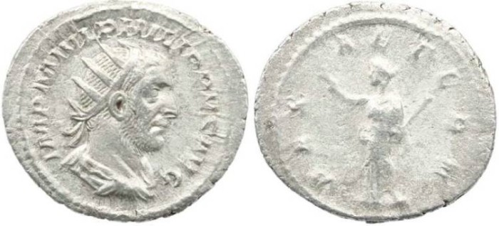 Ancient Coins - Roman Empire Philip I  244-249AD AR double denarius -  Great Portrait