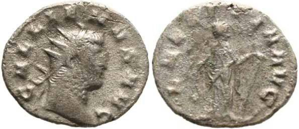 Ancient Coins - Gallienus Silvered Antoninianus 253-268AD Mediolanum