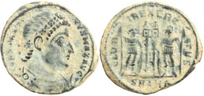 Ancient Coins - Constantine I Magnus 307-337AD GLORIA EXERCITVS - Antioch