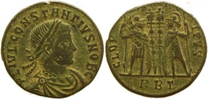 Ancient Coins - Constantius II  GLORIA EXERCITVS - Rome Mint