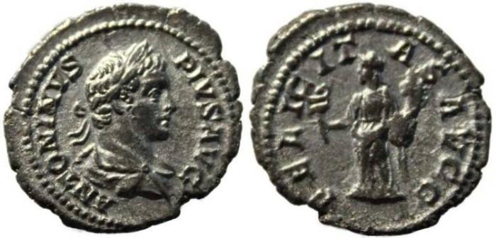 Ancient Coins - Caracalla silver denarius 198-217AD - FELICITAS AVGG