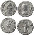Ancient Coins - Two Roman silver denarius of Caracalla and Julia Domna