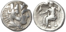 Ancient Coins - Ancient Macedonian coin of Alexander III The Great - AR silver tetradrachm
