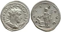 Ancient Coins - Roman coin of Philip I AR silver antoninianus - SALVS AVG