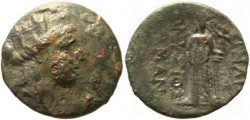 Ancient Coins - Smyrna, Ionia, Magistrates Dionysios and Skamandros Milne 350