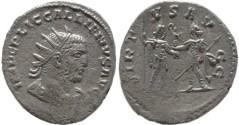Ancient Coins - Gallienus silver antoninianus - VIRTVS AVGG