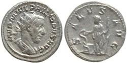 Ancient Coins - Philip I AR silver antoninianus - SALVS AVG