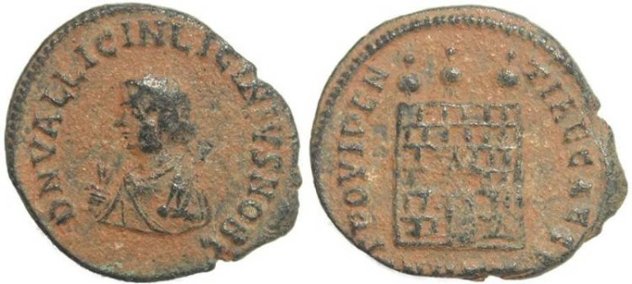 Ancient Coins - Roman coin of Licinius II - PROVIDENTIAE CAESS