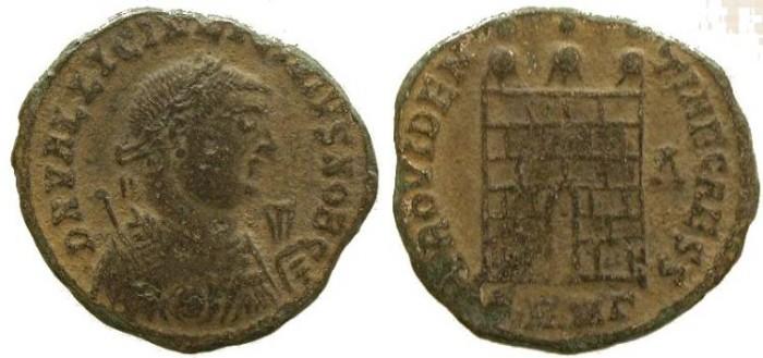 Ancient Coins - Licinius II as caesar, PROVIDENTIAE CAESS , Campgate