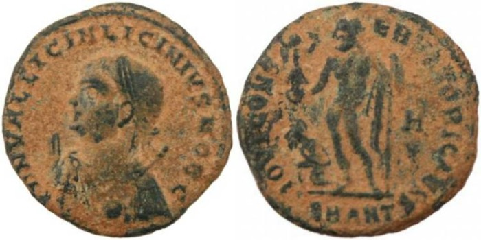 Ancient Coins - Licinius II - IOVI CONSERVATORI CAESS -Antioch Mint