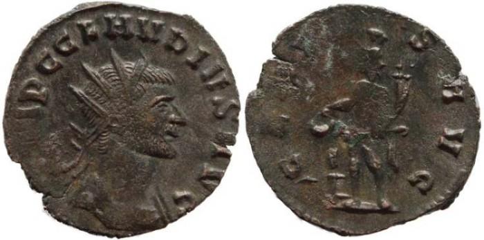 Ancient Coins - Claudius II AE Antoninianus - GENIVS AVG