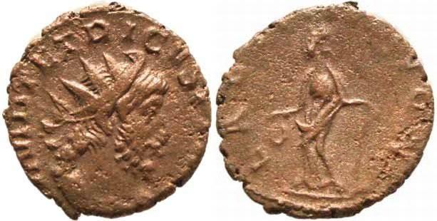 Ancient Coins - Tetricus I Antoninianus 270-273AD
