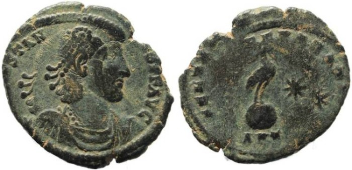 Ancient Coins - Constantius II - FEL TEMP REPARATIO - error coin