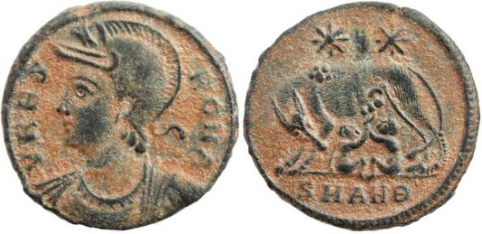 Ancient Coins - Urbs Roma Commemorative - Antioch Mint