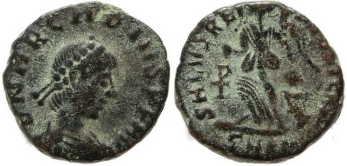 Ancient Coins - Arcadius 383-408AD SALVS REIPVBLICAE - Cyzicus Mint