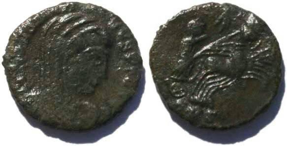 Ancient Coins - Postumuous struck Constantine I Treveri mint