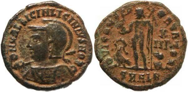 Ancient Coins - Licinius II as Caesar AE follis - Alexandria - Rare