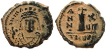 Ancient Coins - Byzantine coin of Maurice Tiberius AE Decanummium - Antioch - Year 17