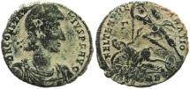 Ancient Coins - Roman coin of Constantius II - Ae2 - FEL TEMP REPARATIO
