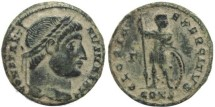 Ancient Coins - Ancient Roman coin of Constantine I - GLORIA EXERCITVS - Constantinople - Scarce