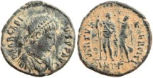 Ancient Coins - Arcadius 383-408AD VIRTVS EXERCITI - Antioch Mint