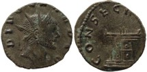 Ancient Coins - Claudius II AE Antoninianus - CONSECRATIO