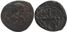 Ancient Coins - Byzantine coin of Nicephorus III Ae 25 follis - Jesus Christ
