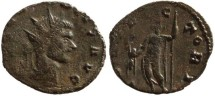 Ancient Coins - Claudius II silvered antoninianus - IOVI VICTORI