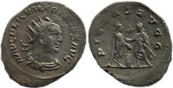 Ancient Coins - Valerian I silver antoninianus - PIETAS AVGG