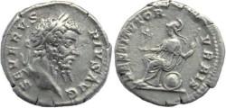 Ancient Coins - Septimius Severus AR silver denarius - RESTITVTOR VRBIS