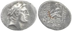Ancient Coins - Ancient Seleukid AR silver tetradrachm of Demetrios I Soter
