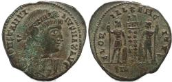 Ancient Coins - Roman coin of Constantine I - GLORIA EXERCITVS