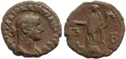 Ancient Coins - Roman Egypt - Diocletian and Dikaiosyne - Year 2