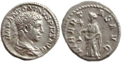Ancient Coins - Beautiful silver denarius of Elagabalus - LIBERTAS AVG - Rome mint: 220-221 AD
