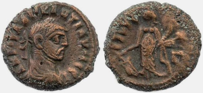 Ancient Coins - Diocletian Potin Tetradrachm minted in Alexandria, Egypt