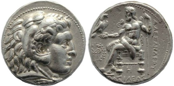 Ancient Coins - Alexander III Tetradrachm struck by Seleukos I 311-300BC Babylon Mint - Beautiful high obverse relief