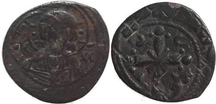 Ancient Coins - Byzantine coin of Nicephorus III Ae 25 follis - Jesus Christ