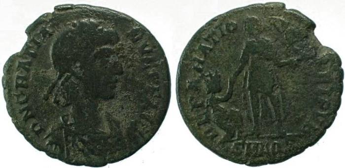 Ancient Coins - Gratian Ae2 Aquileia Mint - REPARATIO REIPVB