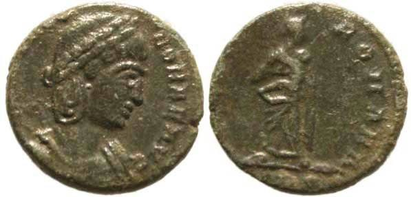 Ancient Coins - Theodora Ae4, Step Mother of Constantine I